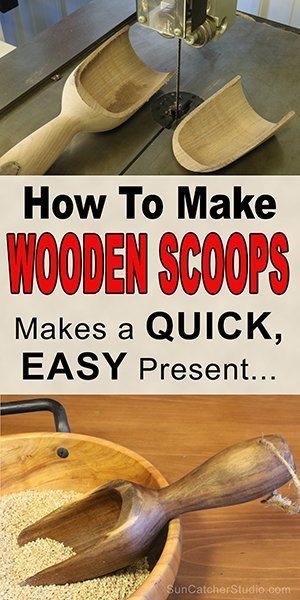 How to make a wooden scoop on the lathe by woodturning.