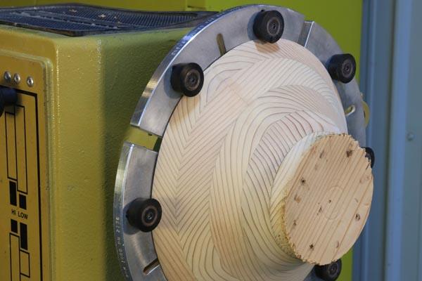 Step 11. Mount the segmented bowl using jumbo jaws.