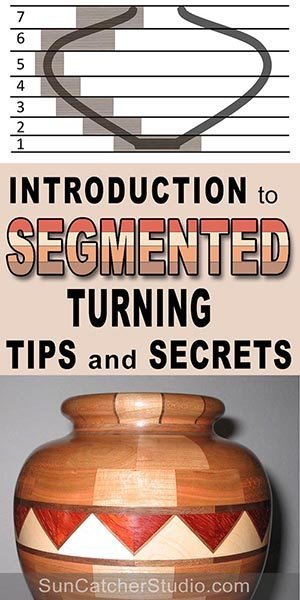 Segmented woodturning - is turning a workpiece composed of multiple glued together pieces. In this introductory article, you will learn TIPS and SECRETS to gluing wood together, creating tight joints, and other helpful tips for creating segmented pieces.