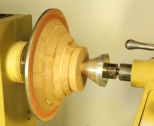 A lathe can be used to glue segmented pieces together.