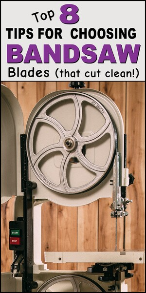 Bandsaw blades - how to choose the right one, blade TENSION, bearings, and minimum cutting radius.