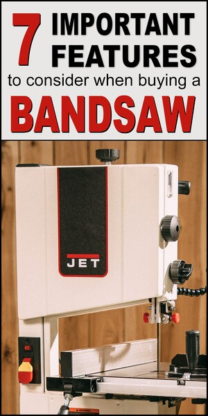 Bandsaw features - how to choose the right one, blade TENSION, bearings, and minimum cutting radius.