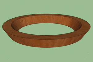 Rings cannot be cut on a bandsaw.