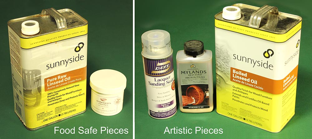 "Minimize finishes by dividing them into either ""Food Safe"" or ""Artistic"" pieces."
