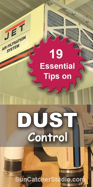 Dust control tips including collection systems, duct work, air gates, masks, vacuums, fine dust, and filtration devices.