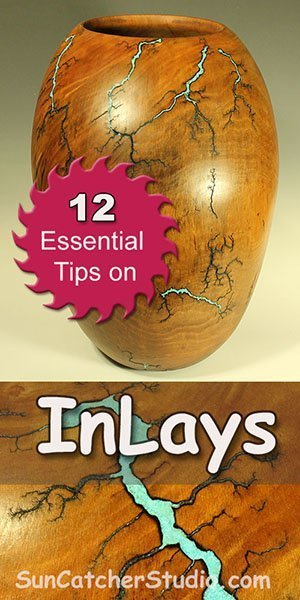 Learn how to add inlay materials to wood.  Inlays are decorative features created by gluing crushed and powered stone, wood, turquoise, and metals into wood.