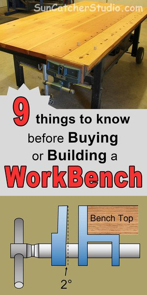 Workbench plans. Includes ideas and designs for a garage workbench, dog holes, vise, portable and how to build DIY workbenches.