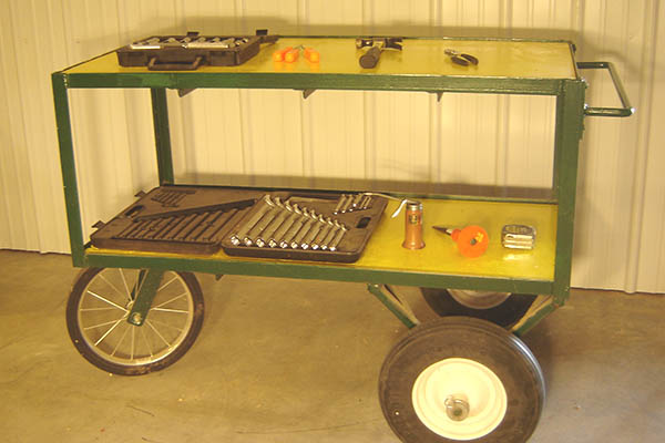 Mobile service cart.