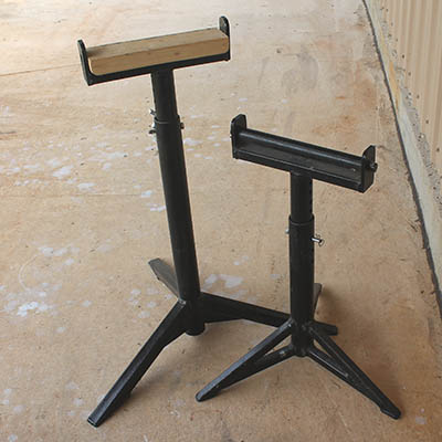Support stands - adjustable, rollers, struggle free cuts, safer work environment, miter saws, band saws, drill presses, jointers, planners, router tables #support #stand #adjustable