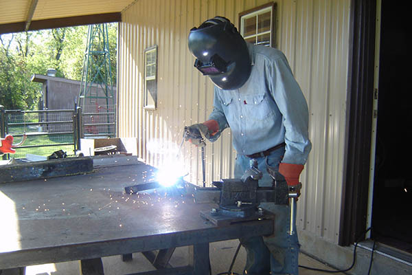 Welding outside