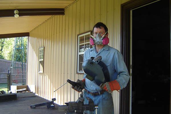 Welding respirator.